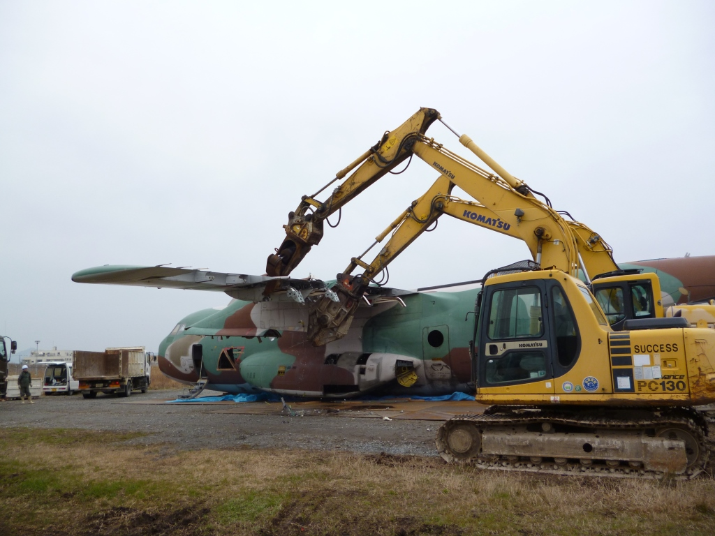 C-1輸送機解体